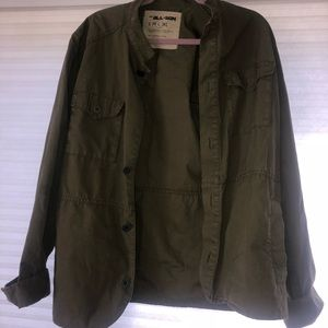 Oversized army lightweight coat